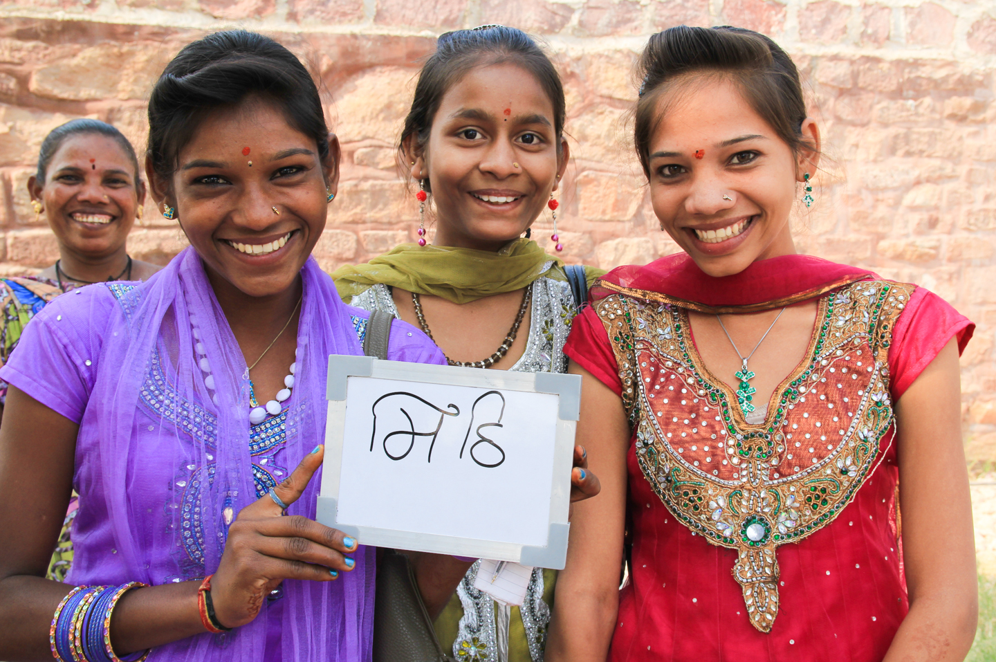 Sangita, Sonal and Sheetal, sisters from Gujarat visiting Jodhpur, love their chai extra sweet.