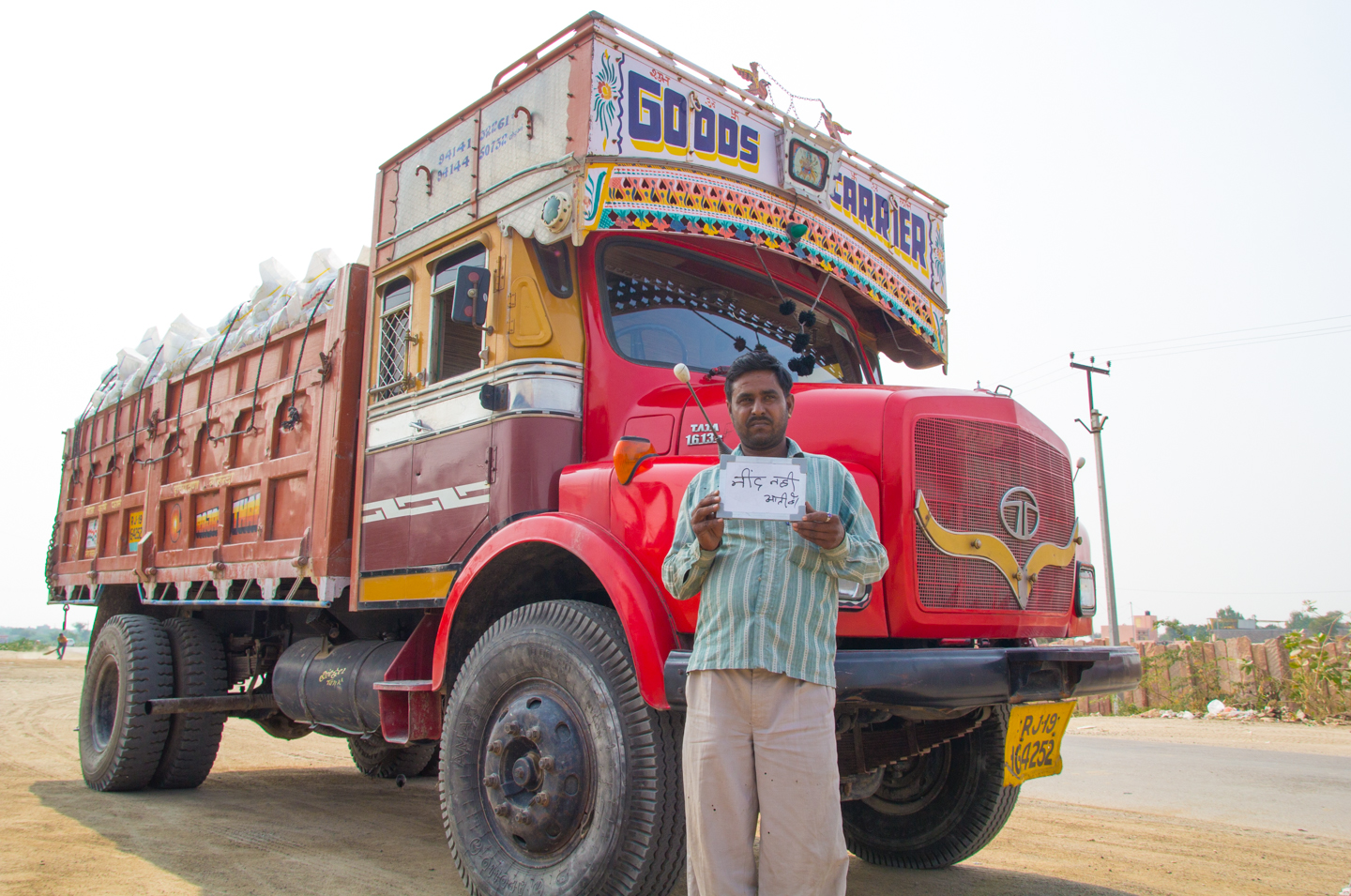 Prabhu, a truck driver transporting chemicals between factories in Rajasthan, stops at chai stands along his route to stay awake at the wheel.