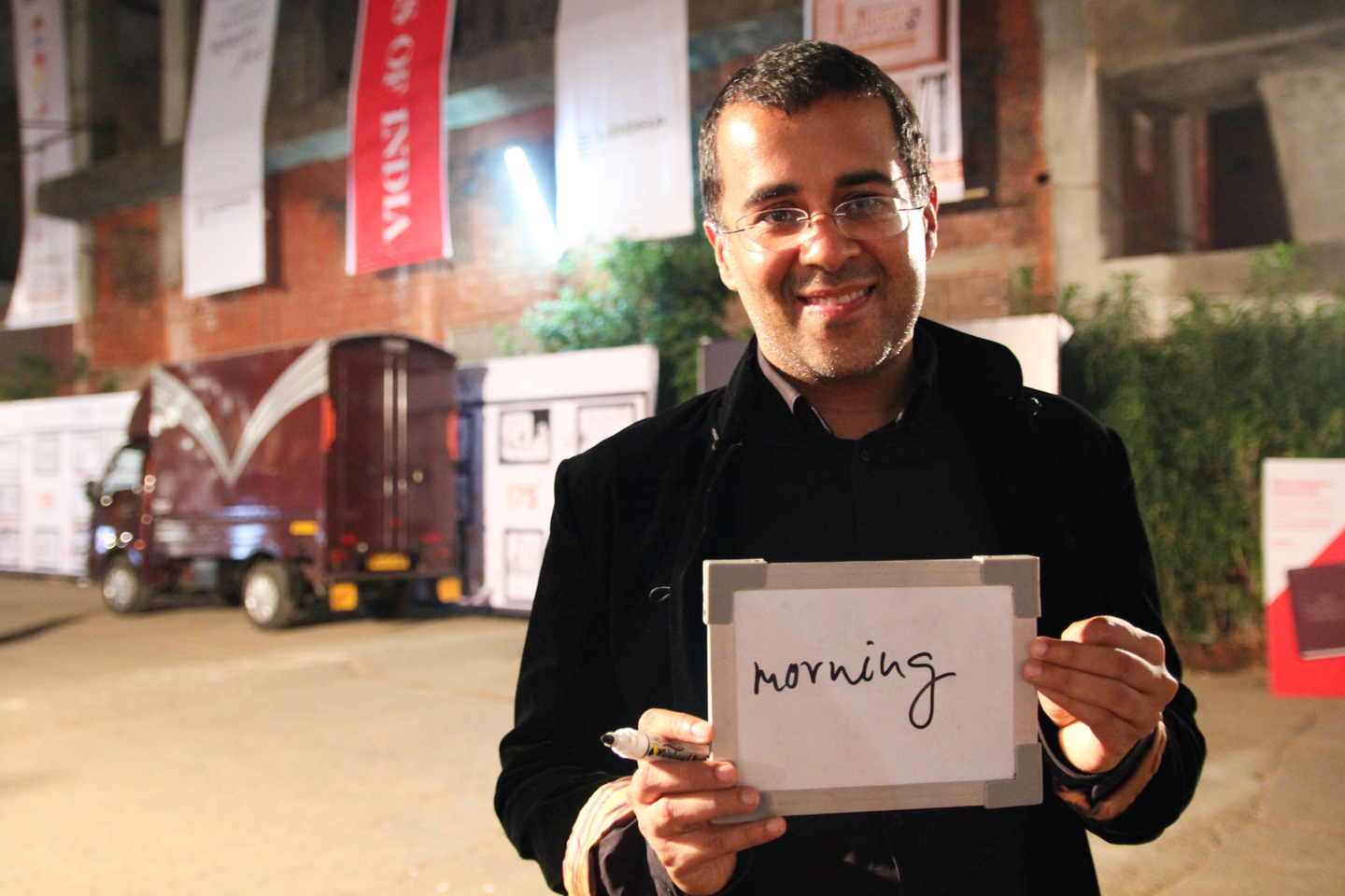 Chetan Bhagat, the biggest selling English language novelist in India's history, according to the New York Times, begins his mornings with a cup of tea. 'Mornings are extremely important for me,'  he told the Times of India. 'I usually wake up around 6:30 am and have tea with my wife Anusha by the window in our living room.'  Then he gets to the writing that has landed him on Time magazine's list of 100 most influential people in the world.