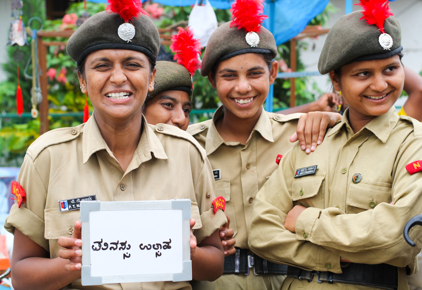 Preeti Nalavade, Nagaveni, Sweta, and Asha visited Bodhgaya, Bihar from Hubli, Karnataka for the National Cadet Corps' National Integration Camp. While Preeti's favorite part of participating in the Corps is the sense of unity and discipline it cultivates, chai brings her a different feeling - 'it keeps my heart cool.'