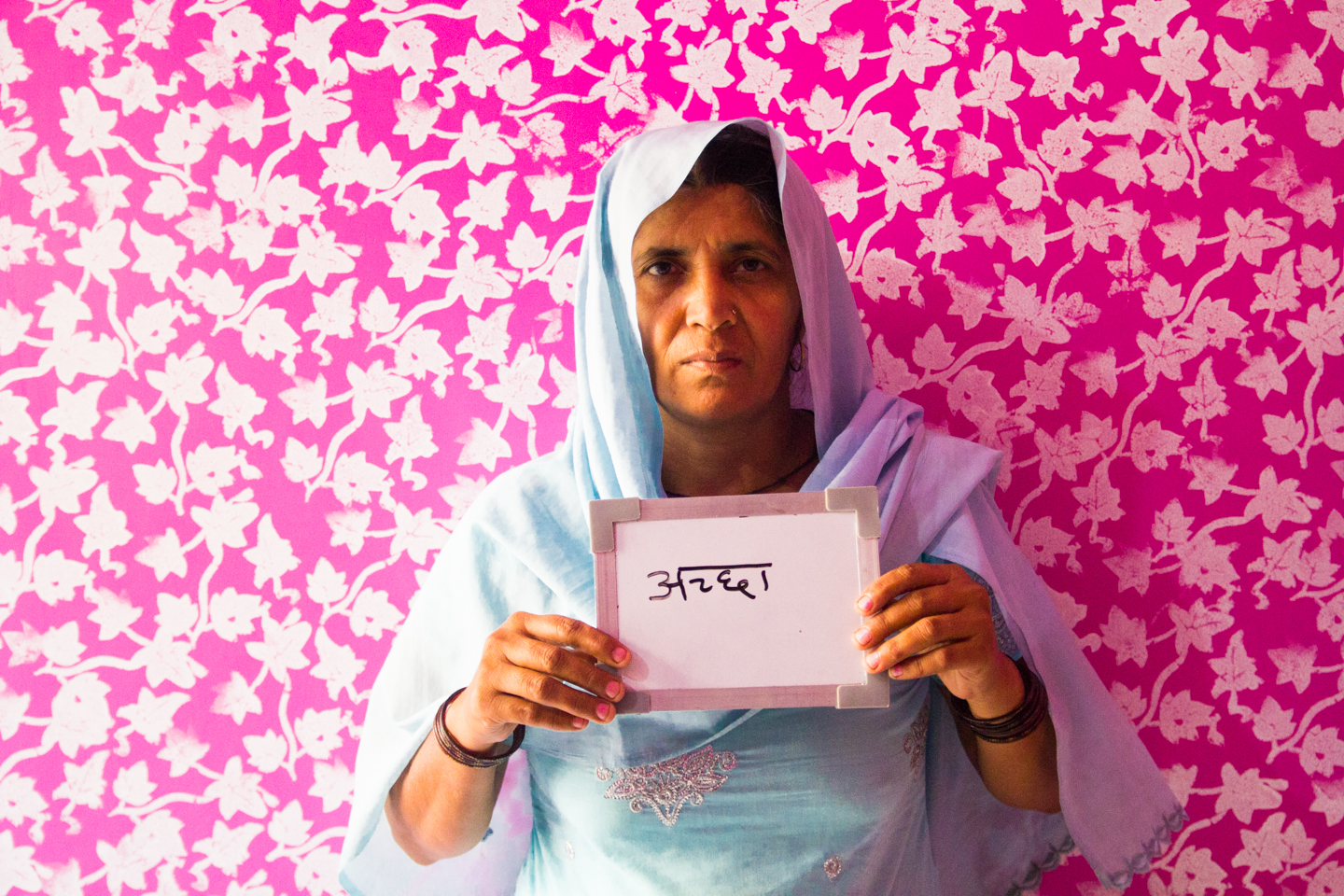 Nirmula, a villager in Hathlana, Haryana, thinks chai is good.