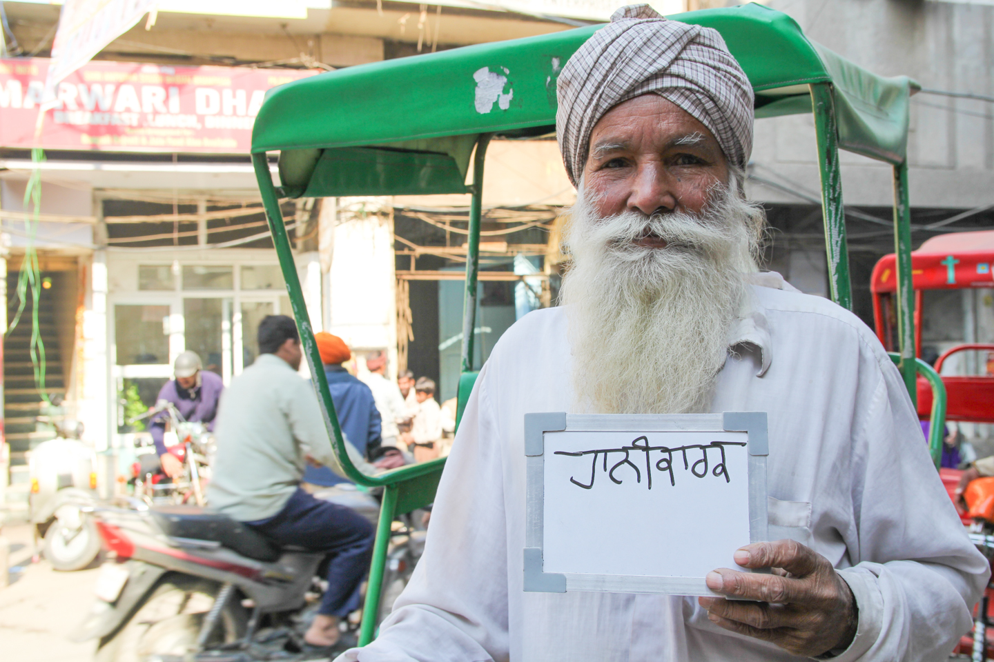 Masa Singh, a cycle rickshaw driver in Amritsar, Punjab, might think chai is harmful, but he needs it for the energy. 'I have to drink it.'