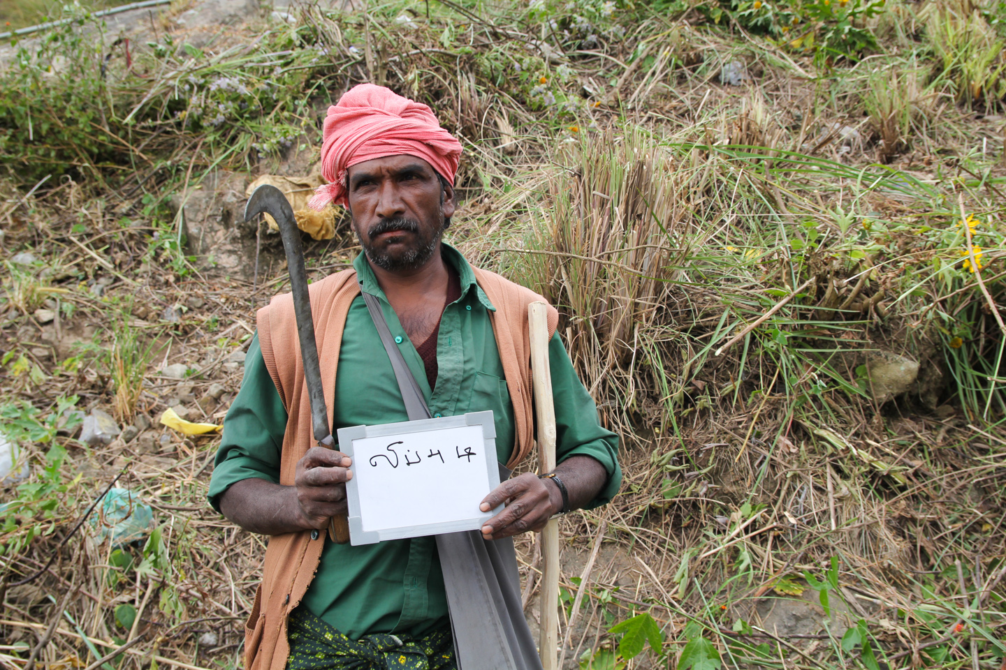 Sivendra, an adivasi, or tribal person, living near Surianalle in the hills of Kerala, clears shrubs from the roadside as part of NREGA, a statute guaranteeing work for rural Indians. With tea estates blanketing the land as far as the eye can see, it comes as no surprise that Sivendra thinks of tea leaves when he hears the word chai.
