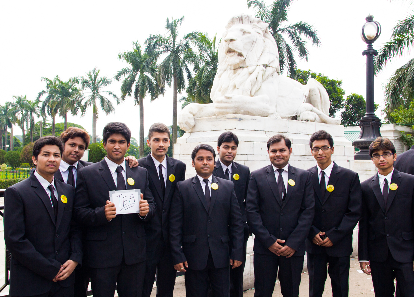 Swaraj and his friends donned suits to promote Suits, a TV series about an American law firm, outside Kolkata's Victoria Memorial Hall. Where British officers once sipped tea from fine china, today most Kolkatans drink their chai in clay cups.