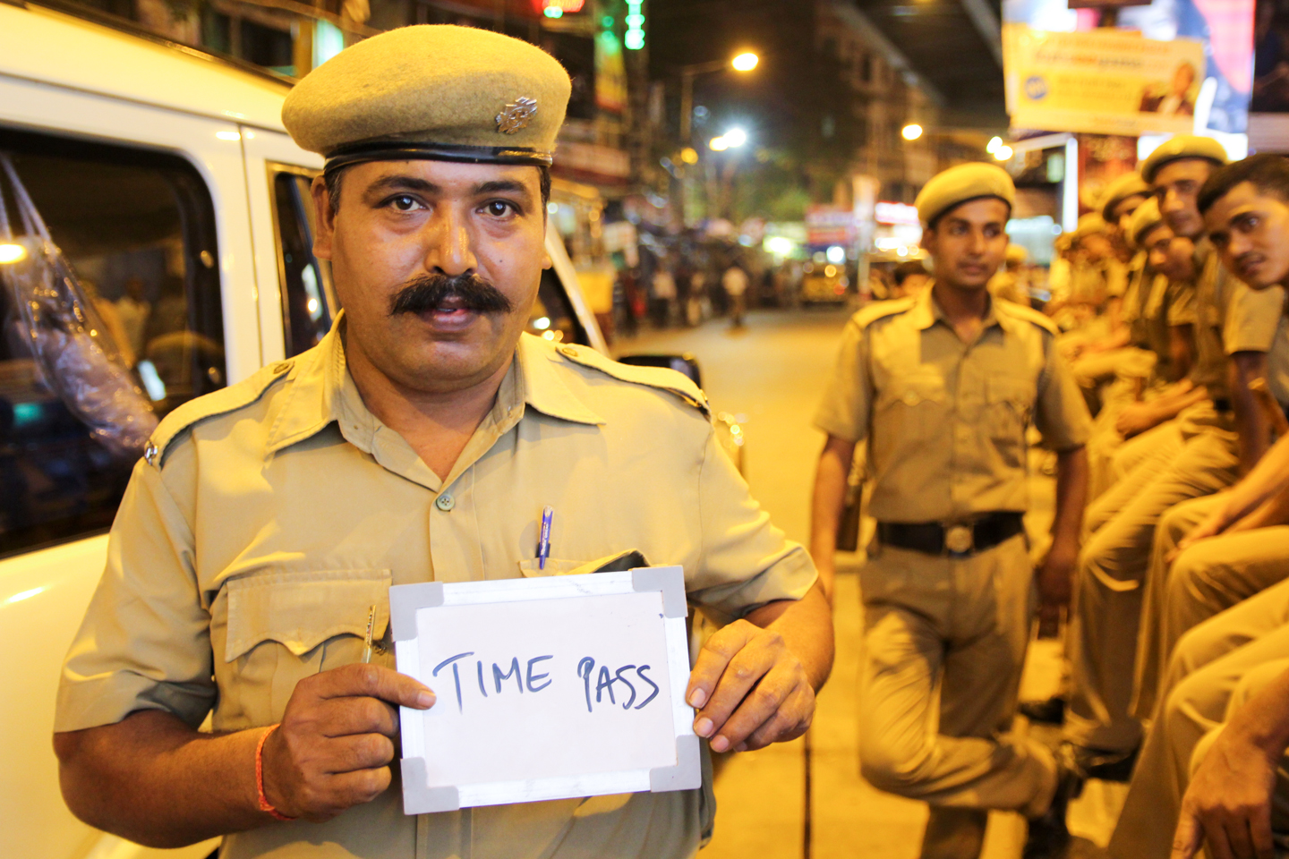 P.B. Shush is a driver for the Kolkata Police Force. While the rookies below him rarely take breaks, Shush makes sure to find time for his daily cuppa.