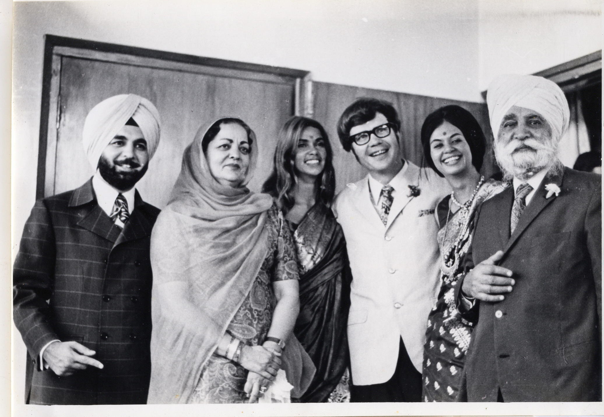 Tondalaya and Ron's wedding in Delhi, 1971.