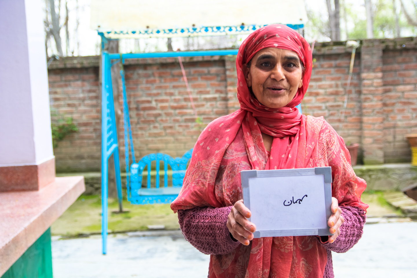 Fatima Tariq welcomes each guest who visits her home outside of Srinagar, Kashmir with a cup of chai. Her specialty is noon chai, salty tea, made in a samovar, a traditional copper tea kettle used for special occasions.