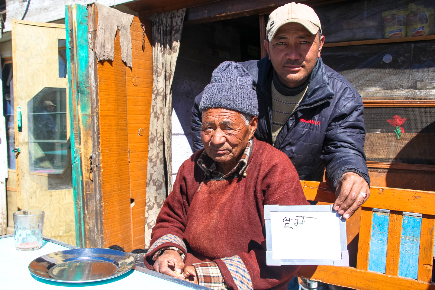 78-year-old Tsering Tashi hails from Sakti, a village 50 kilometers outside of Leh, Ladakh. He starts his mornings with a steaming cup of salty pink tea, or namkeen chai, mixed with tsampa, or barley flour. 'I have no teeth! What to do?' Anwar, the owner of Nindum Tea Stall, explains how chai fits into their lives. 'We work from June to September harvesting vegetables. Then the rest of the year there's nothing to do. Sit under the sun, drink chai. That's all!'