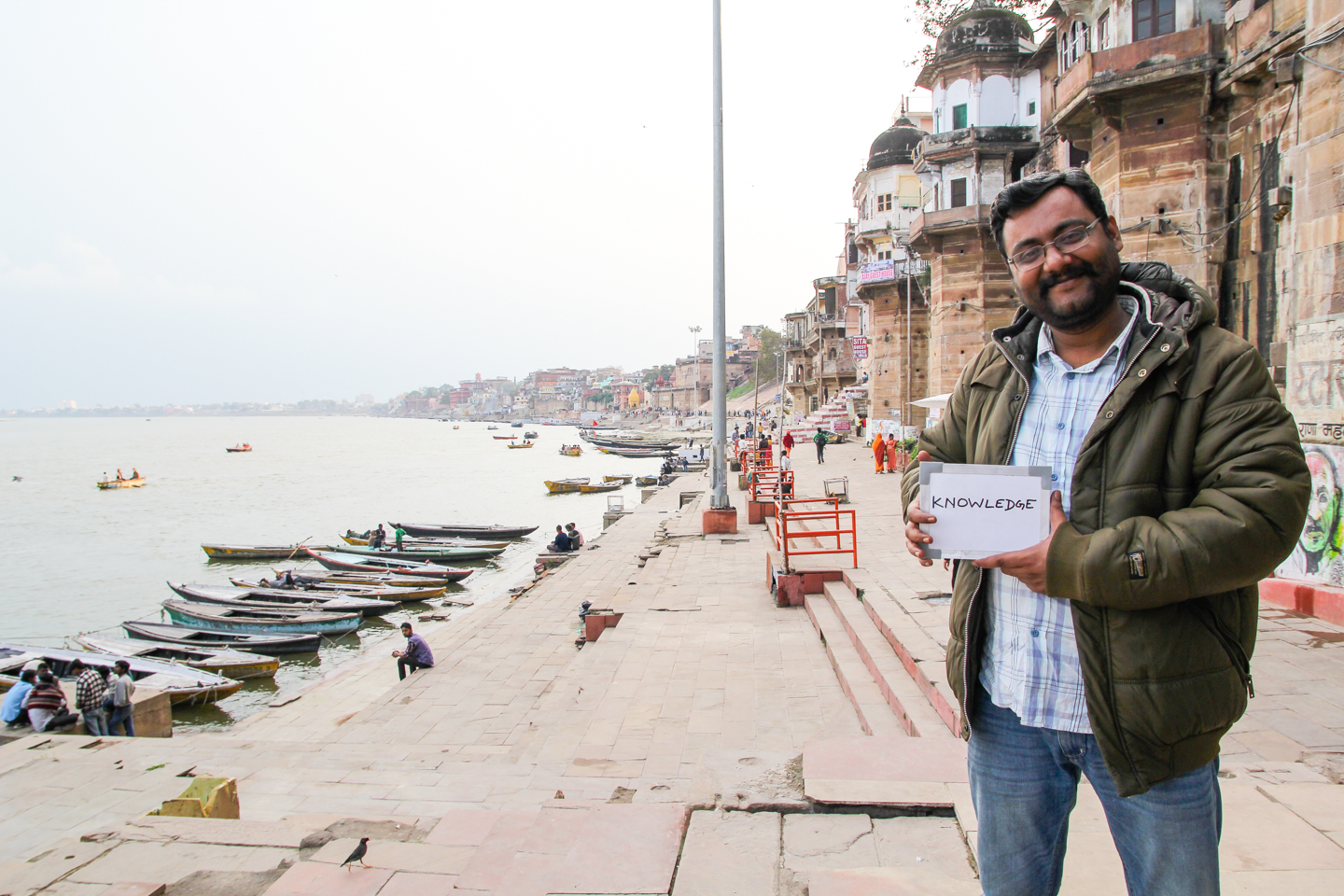 Born and raised in Varanasi, Utpal Pathak has a deep understanding of the importance of chai in one of India's holiest cities. Now a journalist based in Patna, Bihar, Utpal associates chai with knowledge. 'Knowledge is what you learn from the old people about the past. If I was older I would say wisdom. Once I have gained the knowledge it will be wisdom. People here know the art of dying. We see the burning ghats every morning. People call Varanasi the city of death, but here, death is a festival. We also don't need to think about the art of living because we already know how to live. We wake up early in the morning take a bath in the Ganga, take bhaang, eat paan, eat delicious foods, talk about politics, drink chai. I know this because I am a Banarasi.'