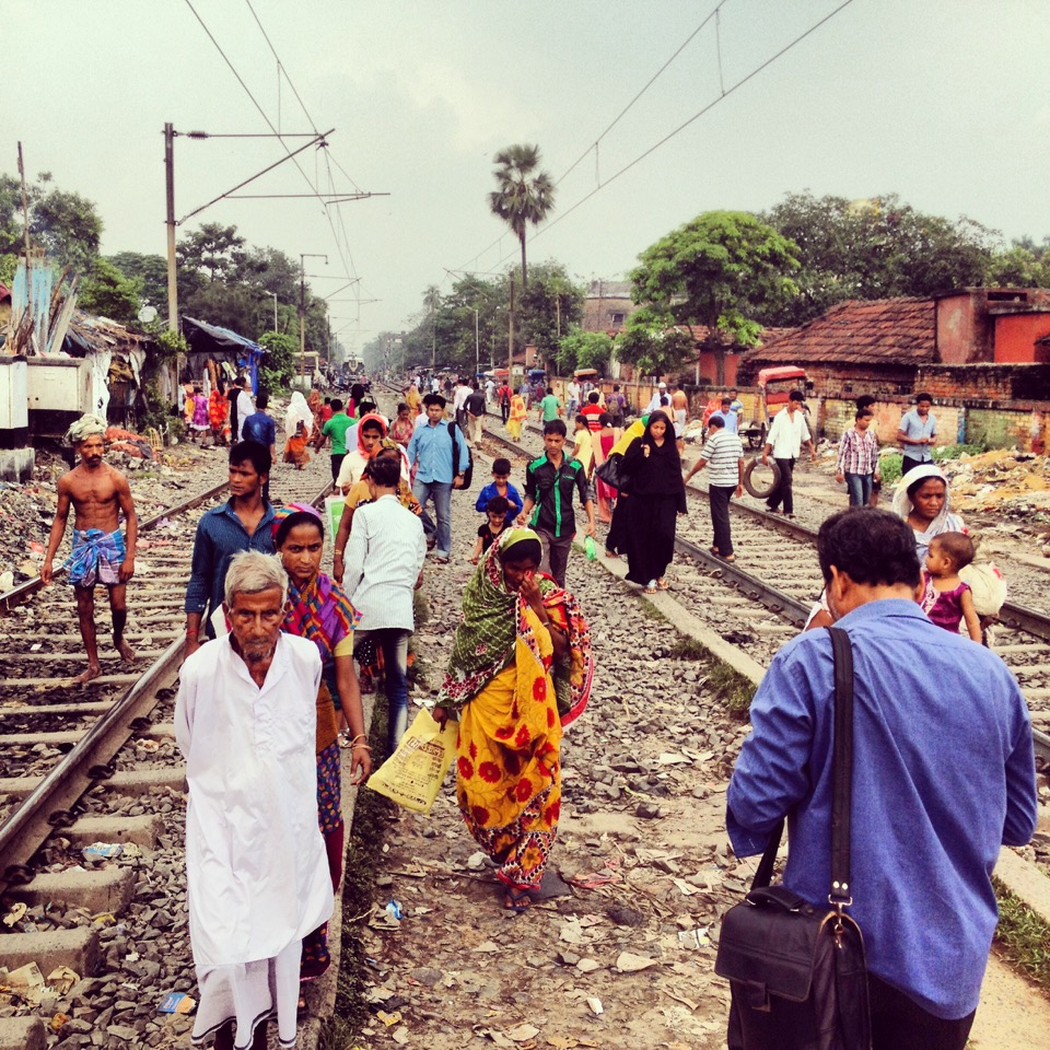 Life on the tracks in Kolkata. Photo: Resham Gellatly