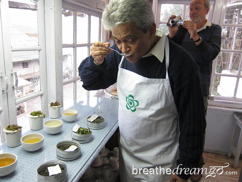 Rajah tastes tea