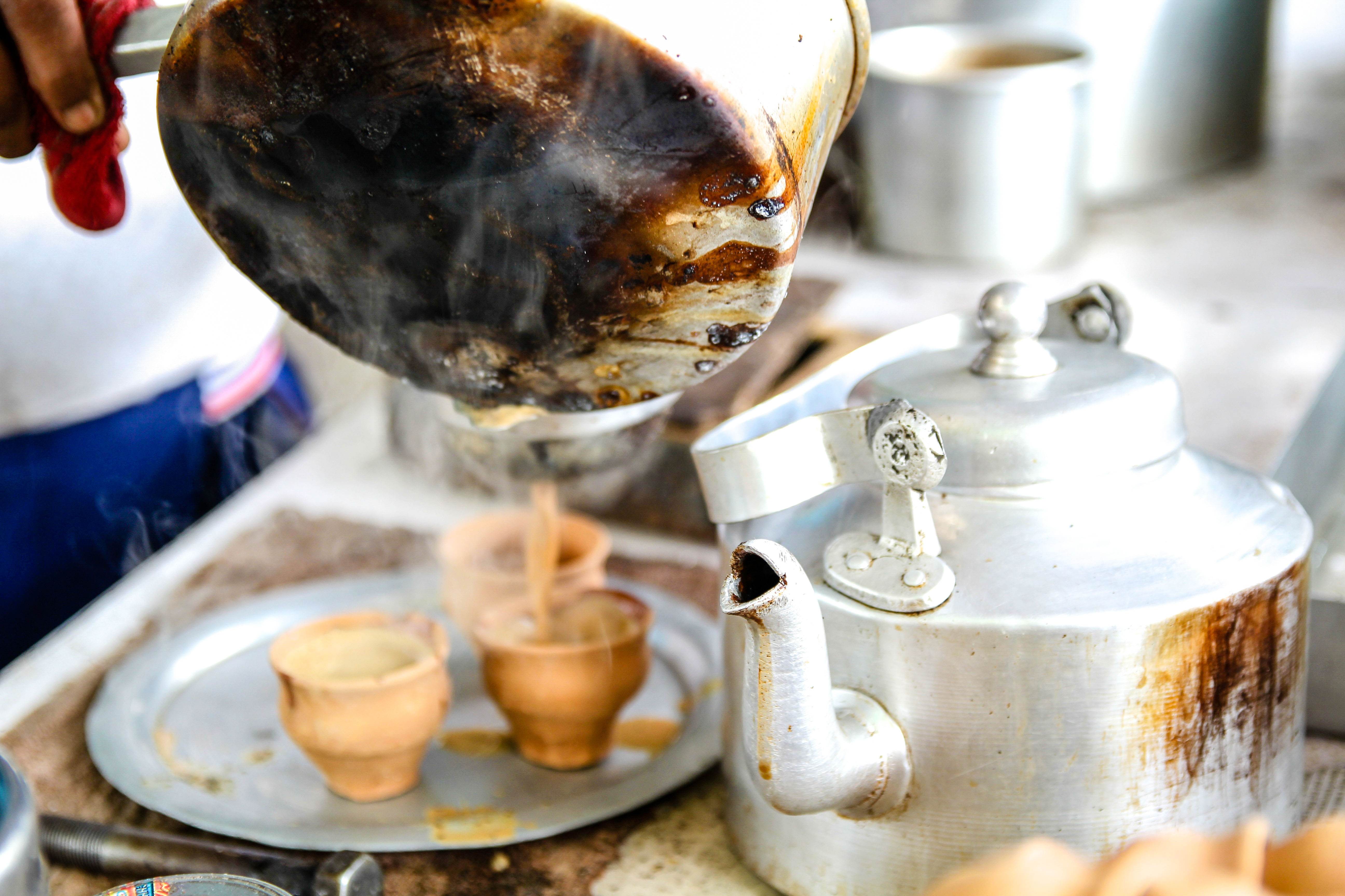 Chai served in bhar, clay cups commonly used in Kolkata. Photo: Resham Gellatly